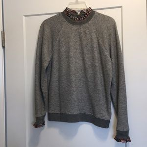 J. Crew Sweatshirt with detailing